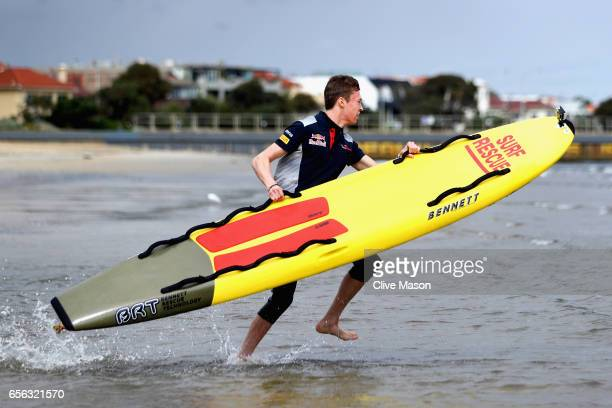 Daniil Kvyat of Russia and Scuderia Toro Rosso at the Casio Lifesaver Challenge during previews to the Australian Formula One Grand Prix at Albert...