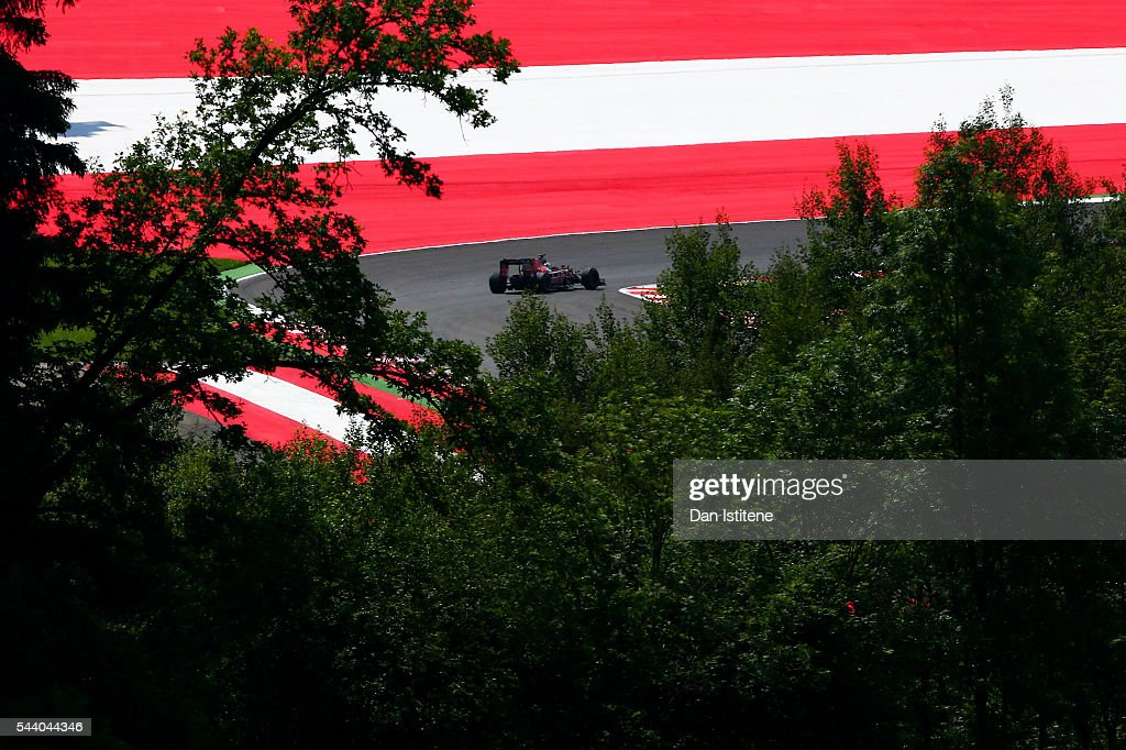 <a gi-track='captionPersonalityLinkClicked' href=/galleries/search?phrase=Daniil+Kvyat&family=editorial&specificpeople=10936016 ng-click='$event.stopPropagation()'>Daniil Kvyat</a> of Russia drives the 3 Scuderia Toro Rosso STR11 Ferrari 060/5 turbo during practice for the Formula One Grand Prix of Austria at Red Bull Ring on July 1, 2016 in Spielberg, Austria.