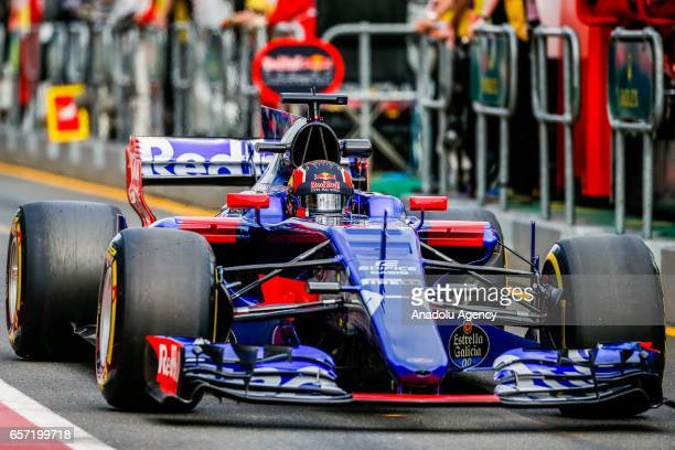 Daniil Kvyat of Russia driving for Scuderia Toro Rosso exits pit lane on Friday Free Practice during the 2017 Rolex Australian Formula 1 Grand Prix...