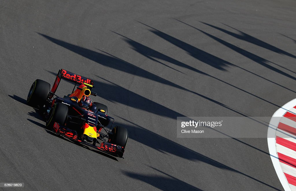 <a gi-track='captionPersonalityLinkClicked' href=/galleries/search?phrase=Daniil+Kvyat&family=editorial&specificpeople=10936016 ng-click='$event.stopPropagation()'>Daniil Kvyat</a> of Russia driving the (26) Red Bull Racing Red Bull-TAG Heuer RB12 TAG Heuer on track during practice for the Formula One Grand Prix of Russia at Sochi Autodrom on April 29, 2016 in Sochi, Russia.