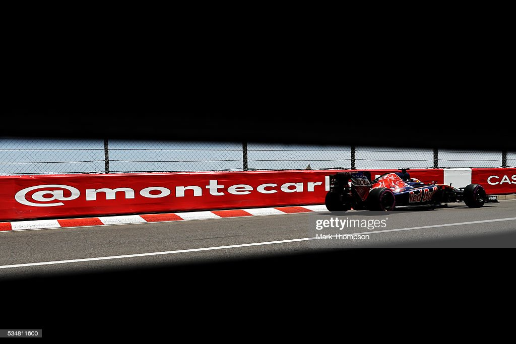 <a gi-track='captionPersonalityLinkClicked' href=/galleries/search?phrase=Daniil+Kvyat&family=editorial&specificpeople=10936016 ng-click='$event.stopPropagation()'>Daniil Kvyat</a> of Russia driving the (26) Scuderia Toro Rosso STR11 Ferrari 060/5 turbo on track during qualifying for the Monaco Formula One Grand Prix at Circuit de Monaco on May 28, 2016 in Monte-Carlo, Monaco.