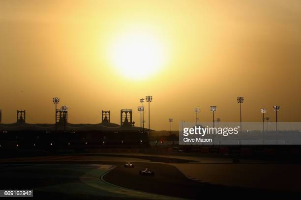 Daniil Kvyat of Russia driving the Scuderia Toro Rosso STR12 on track during the Bahrain Formula One Grand Prix at Bahrain International Circuit on...