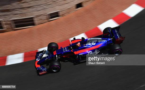 Daniil Kvyat of Russia driving the Scuderia Toro Rosso STR12 on track during qualifying for the Monaco Formula One Grand Prix at Circuit de Monaco on...