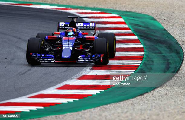 Daniil Kvyat of Russia driving the Scuderia Toro Rosso STR12 on track during the Formula One Grand Prix of Austria at Red Bull Ring on July 9 2017 in...