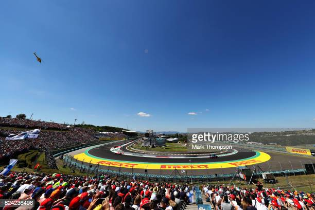 Daniil Kvyat of Russia driving the Scuderia Toro Rosso STR12 on track during qualifying for the Formula One Grand Prix of Hungary at Hungaroring on...