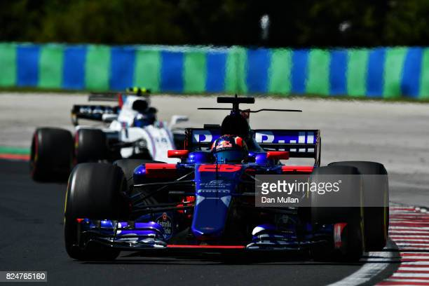 Daniil Kvyat of Russia driving the Scuderia Toro Rosso STR12 on track during the Formula One Grand Prix of Hungary at Hungaroring on July 30 2017 in...