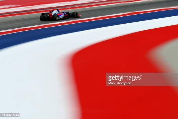 Daniil Kvyat of Russia driving the Scuderia Toro Rosso STR12 on track during practice for the United States Formula One Grand Prix at Circuit of The...