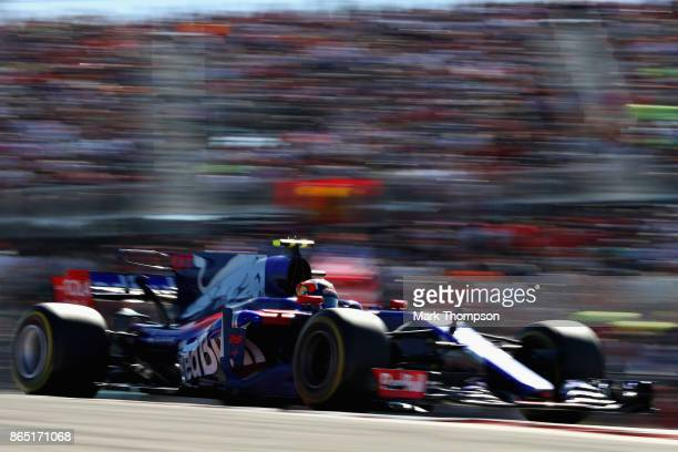 Daniil Kvyat of Russia driving the Scuderia Toro Rosso STR12 on track during the United States Formula One Grand Prix at Circuit of The Americas on...