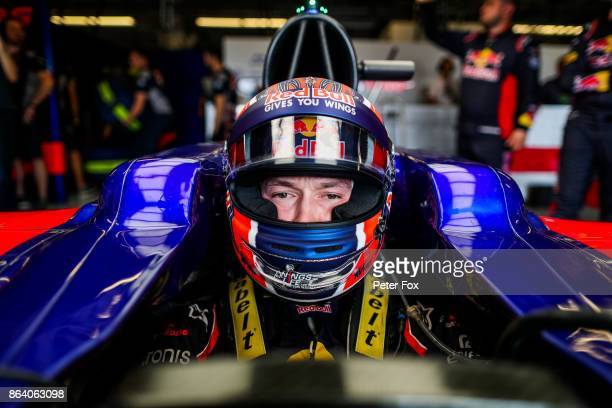 Daniil Kvyat of Scuderia Toro Rosso and Russia during practice for the United States Formula One Grand Prix at Circuit of The Americas on October 20...