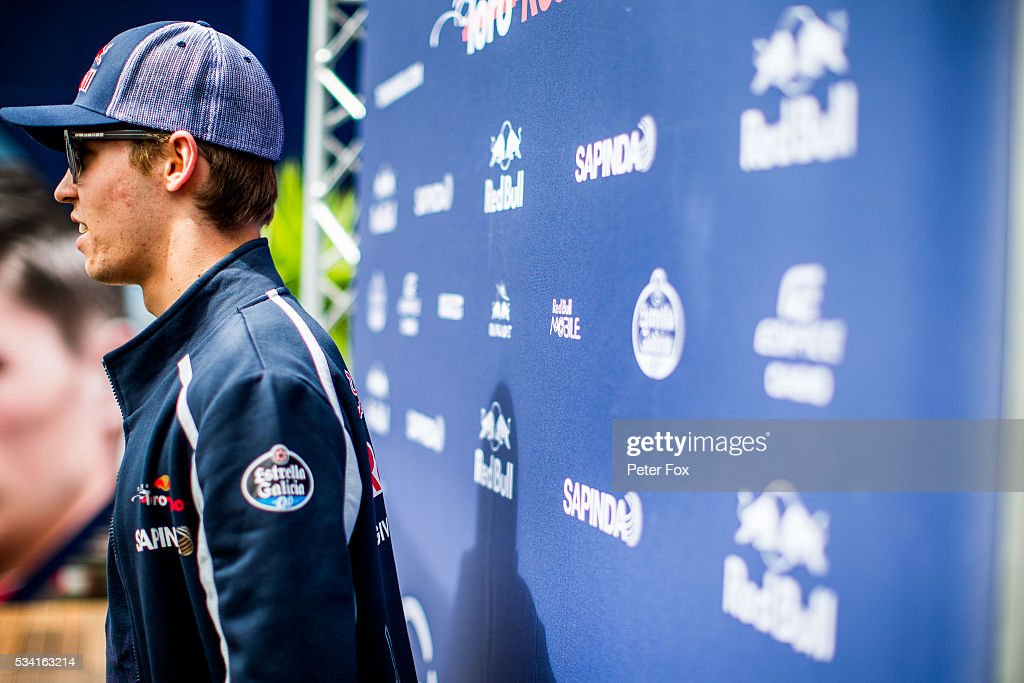 25: 25: 25: 25: 25: <a gi-track='captionPersonalityLinkClicked' href=/galleries/search?phrase=Daniil+Kvyat&family=editorial&specificpeople=10936016 ng-click='$event.stopPropagation()'>Daniil Kvyat</a> of Scuderia Toro Rosso and Russia during previews to the Monaco Formula One Grand Prix at Circuit de Monaco on May 25, 2016 in Monte-Carlo, Monaco.