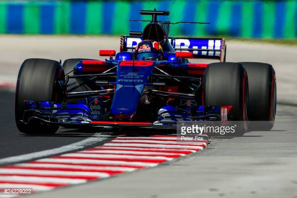 Daniil Kvyat of Scuderia Toro Rosso and Russia during qualifying for the Formula One Grand Prix of Hungary at Hungaroring on July 29 2017 in Budapest...
