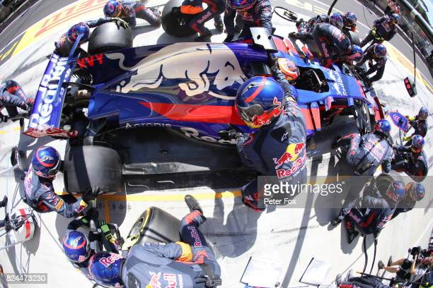 Daniil Kvyat of Scuderia Toro Rosso and Russia during the Formula One Grand Prix of Hungary at Hungaroring on July 30 2017 in Budapest Hungary