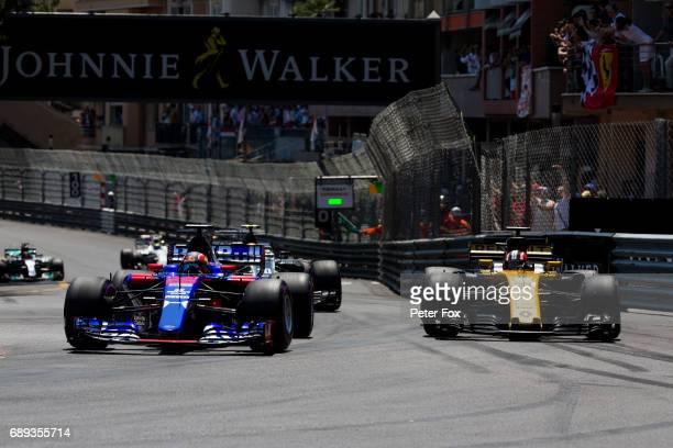 Daniil Kvyat of Scuderia Toro Rosso and Russia during the Monaco Formula One Grand Prix at Circuit de Monaco on May 28 2017 in MonteCarlo Monaco