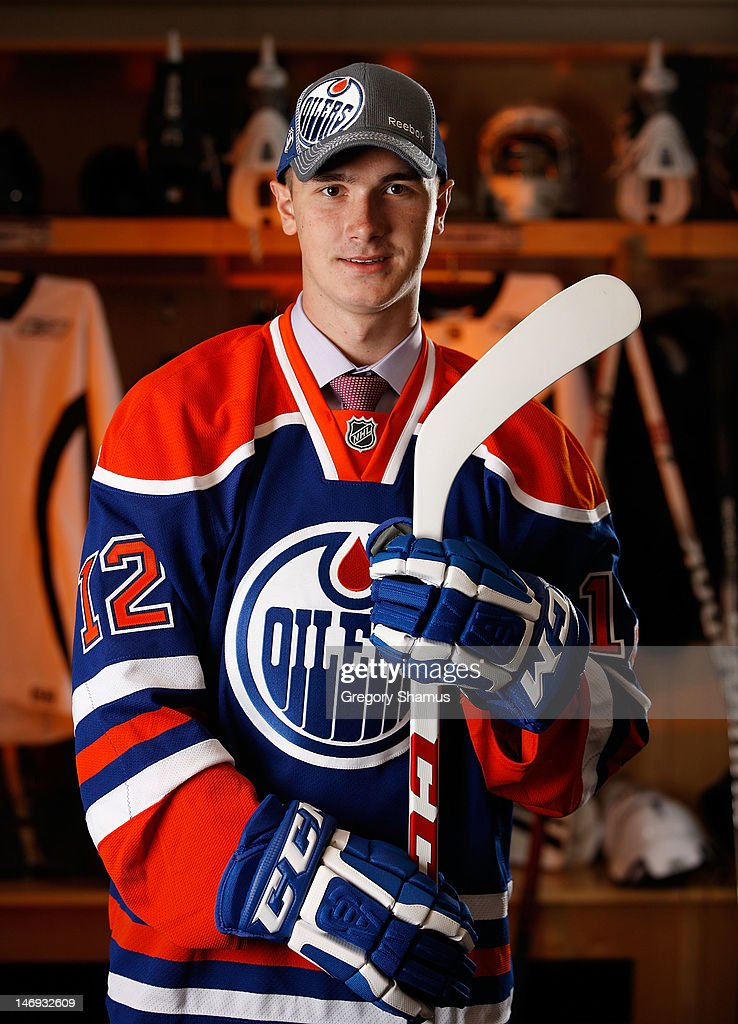 Daniil Zharkov, 91st overall pick by the Edmonton Oilers, poses for a portrait during the 2012 NHL Entry Draft at Consol Energy Center on June 23, 2012 in Pittsburgh, Pennsylvania.