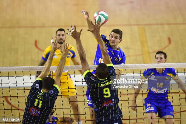 Danijel Koncilja of Nice during the Volleyball friendly match on September 22 2017 in Montpellier France