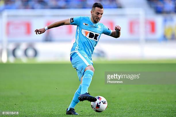 Danijel Milicevic midfielder of KAA Gent controls the ball during the Jupiler Pro League match between KAA Gent and SV Zulte Waregem in the Ghelamco...