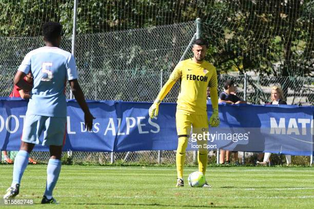 Danijel Subasic of Monaco during the friendly match between As Monaco and PSV Eindhoven on July 16 2017 in Le Chable Switzerland