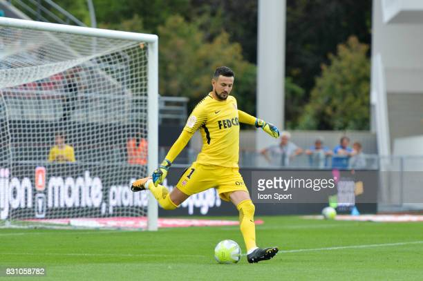 Danijel Subasic of Monaco during the Ligue 1 match between Dijon FCO and AS Monaco at Stade Gaston Gerard on August 13 2017 in Dijon