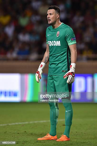 Danijel Subasic of Monaco looks on during the UEFA Champions League qualifying round play off second leg match between Monaco and Valencia on August...
