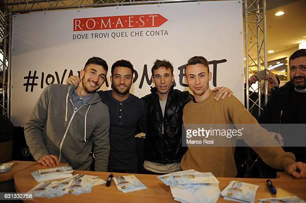 Danilo Cataldi Felipe AndersonLucas Biglia and Cristiano Lombardi of SS Lazio during an event to unveil the SS LAZIO 'Lazio Style' store on January 9...