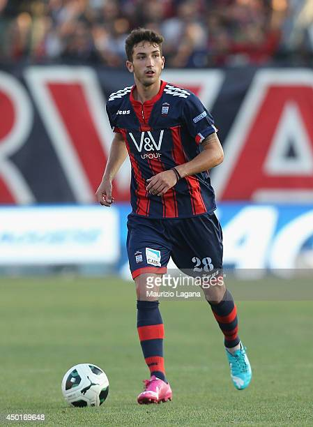 Danilo Cataldi of Crotone during the Serie B playoff match between FC Crotone and AS Bari at Stadio Comunale Ezio Scida on June 3 2014 in Crotone...