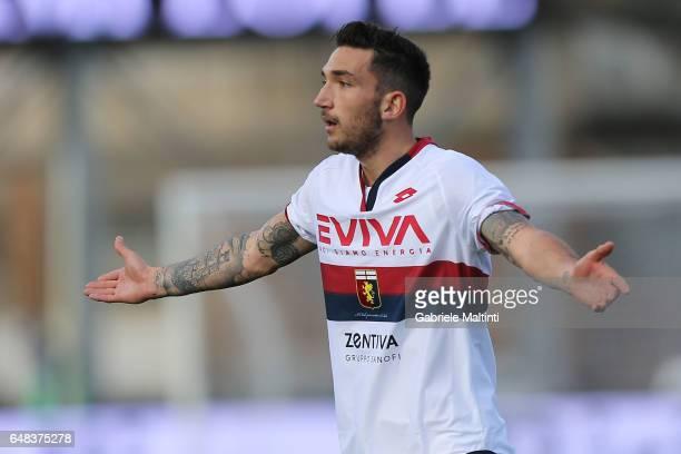 Danilo Cataldi of Genoa CFC reacts during the Serie A match between Empoli FC and Genoa CFC at Stadio Carlo Castellani on March 5 2017 in Empoli Italy