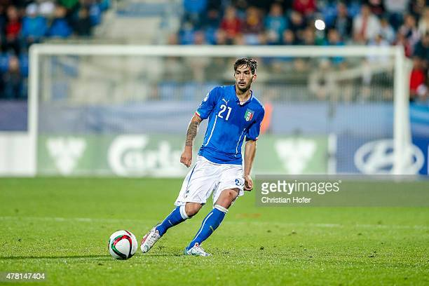 Danilo Cataldi of Italy controls the ball during the UEFA Under21 European Championship 2015 match between Italy and Portugal at Mestsky Fotbalovy...