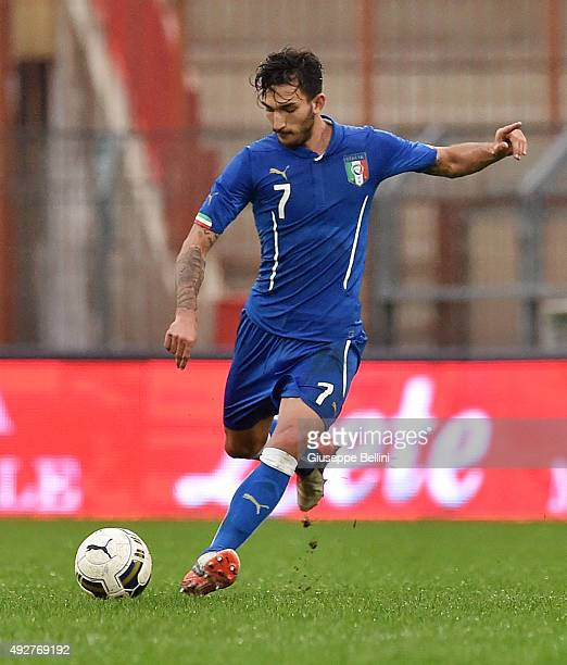 Danilo Cataldi of Italy in action during the 2017 UEFA European U21 Championships Qualifier between Italy and Republic of Ireland at Stadio Romeo...