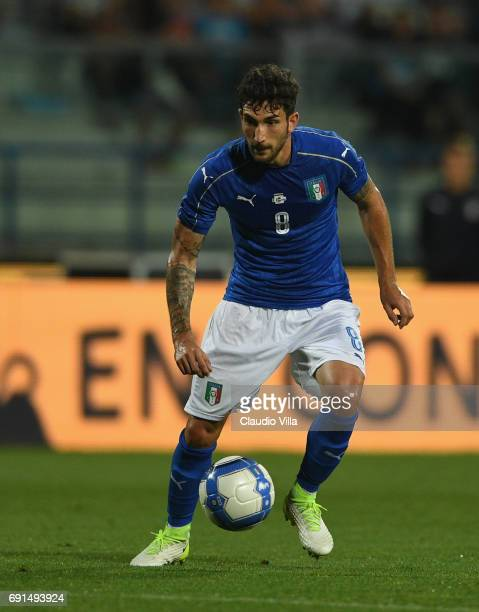 Danilo Cataldi of Italy in action during the international friendy match played between Italy and San Marino at Stadio Carlo Castellani on May 31...
