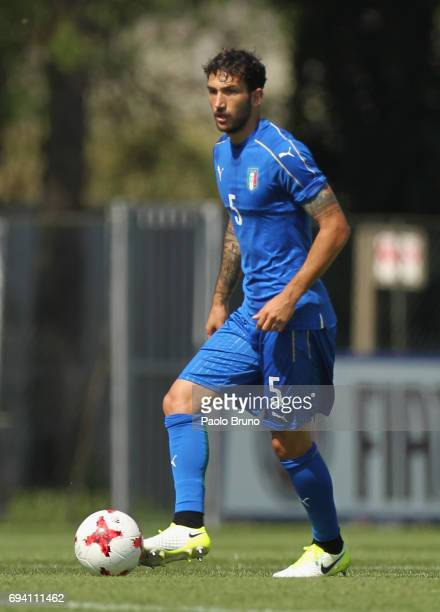 Danilo Cataldi of Italy in action during the Italy U21 training session at Fulvio Bernardini sport center on June 9 2017 in Rome Italy