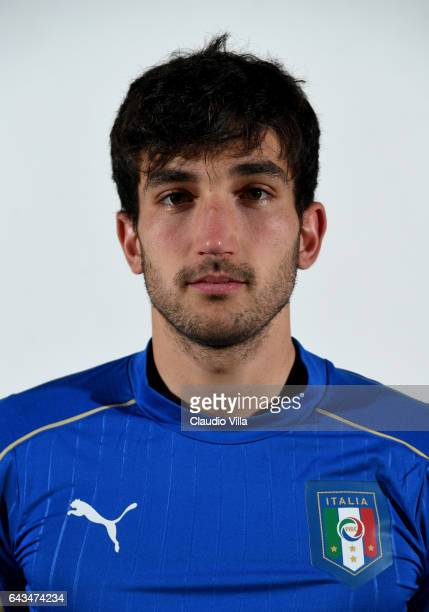 Danilo Cataldi of Italy poses during the official portrait session at Coverciano on February 21 2017 in Florence Italy