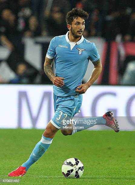 Danilo Cataldi of SS Lazio in action during the Serie A match between Juventus FC and SS Lazio at Juventus Arena on April 18 2015 in Turin Italy
