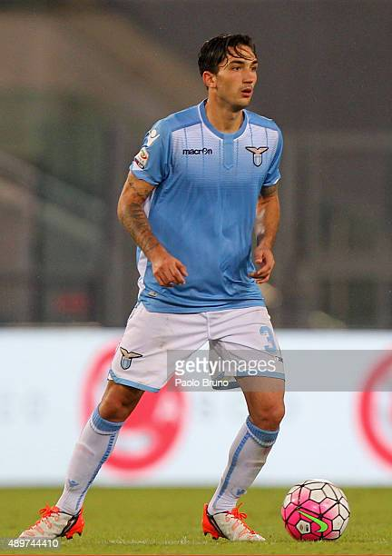 Danilo Cataldi of SS Lazio in action during the Serie A match between SS Lazio and Genoa CFC at Stadio Olimpico on September 23 2015 in Rome Italy