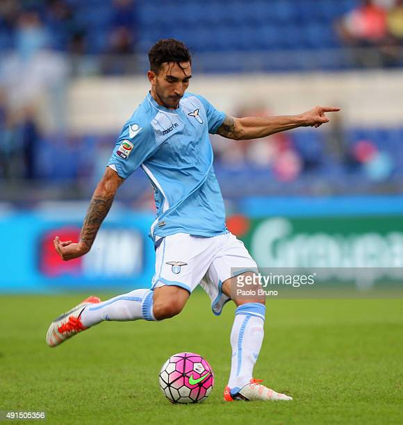 Danilo Cataldi of SS Lazio in action during the Serie A match between SS Lazio and Frosinone Calcio at Stadio Olimpico on October 4 2015 in Rome Italy