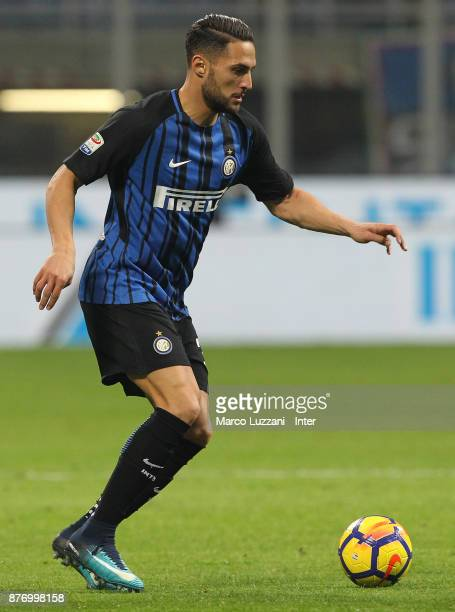 Danilo D Ambrosio of FC Internazionale looks on during the Serie A match between FC Internazionale and Atalanta BC at Stadio Giuseppe Meazza on...
