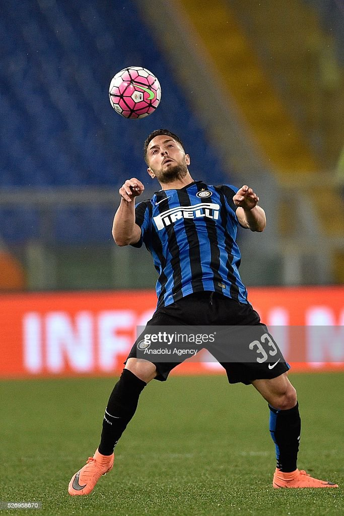 Danilo D'ambrosio of FC Inter in action during the Serie A match between SS Lazio and FC Internazionale Milano at Stadio Olimpico on May 1, 2016 in Rome, Italy.