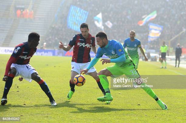 Danilo D'Ambrosio of FC Internazioanle in action during the Serie A match between Bologna FC and FC Internazionale at Stadio Renato Dall'Ara on...