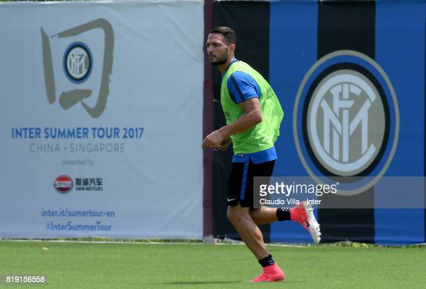 Danilo D'Ambrosio of FC Internazionale in action during a FC Interazionale training session at Suning training center on July 20 2017 in Nanjing China