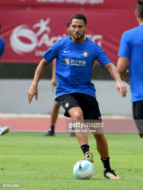 Danilo D'Ambrosio of FC Internazionale in action during a training session at Bishan Sports Hall on July 26 2017 in Singapore