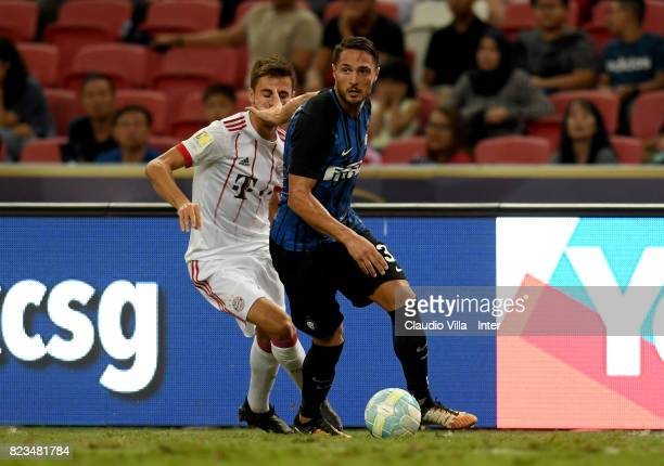 Danilo D'Ambrosio of FC Internazionale in action during the International Champions Cup match between FC Bayern and FC Internazionale at National...