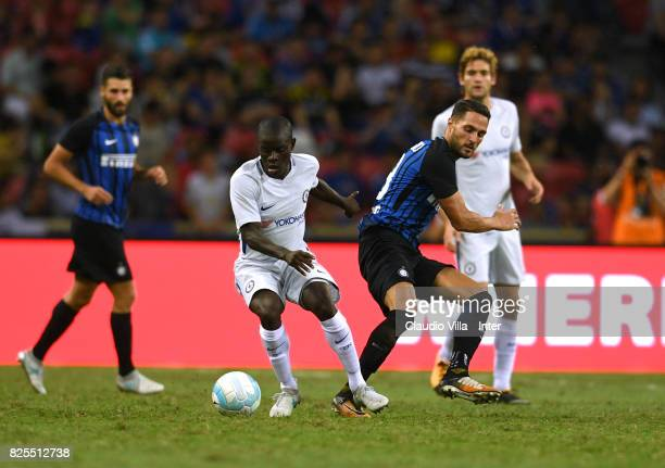 Danilo D'Ambrosio of FC Internazionale in action during the International Champions Cup match between Chelsea FC and FC Internazionale at National...