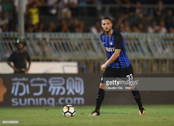 Danilo D'Ambrosio of FC Internazionale in action during the PreSeason Friendly match between FC Internazionale and Villareal CF at Stadio Riviera...