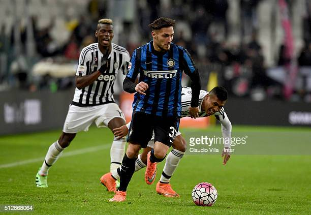 Danilo D'Ambrosio of FC Internazionale in action during the Serie A match between Juventus FC and FC Internazionale Milano at Juventus Arena on...