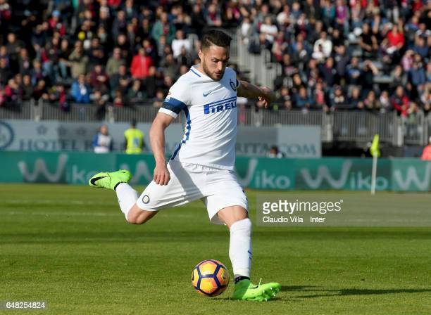 Danilo D'Ambrosio of FC Internazionale in action during the Serie A match between Cagliari Calcio and FC Internazionale at Stadio Sant'Elia on March...