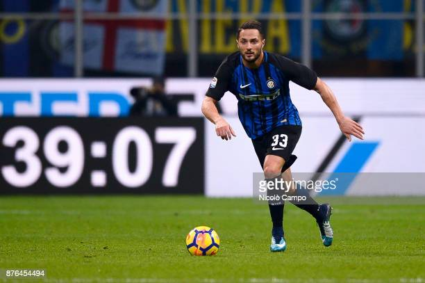 Danilo D'Ambrosio of FC Internazionale in action during the Serie A football match between FC Internazionale and Atalanta BC FC Internazionale won 20...