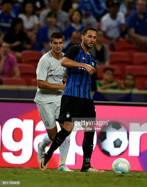 Danilo D'Ambrosio of FC Internazionale of FC Internazionale in action during the International Champions Cup match between Chelsea FC and FC...