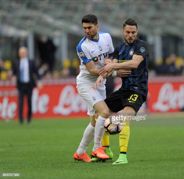 Danilo D'Ambrosio of Inter during the Serie A match between FC Internazionale and Atalanta at Stadio Giuseppe Meazza on March 12 2017 in Milan Italy