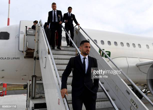 Danilo D'Ambrosio of Italy arrives to Palermo on March 23 2017 in Palermo Italy