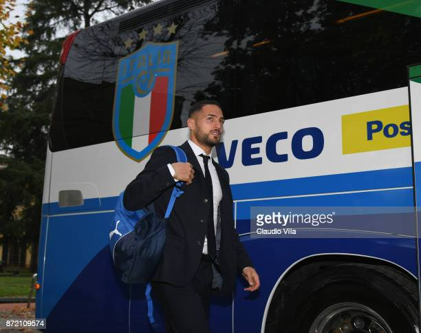 Danilo D'Ambrosio of Italy at Coverciano before a World Cup qualifying match against Sweden on November 9 2017 in Florence Italy