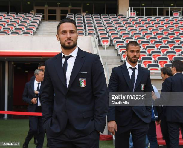 Danilo D'Ambrosio of Italy attends Italy walk around at Allianz Riviera Stadium on June 6 2017 in Nice France